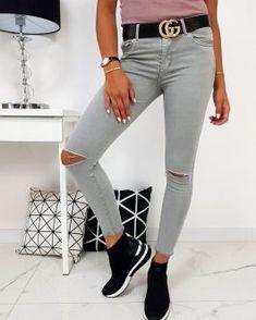 Dámske nohavice - Oblečiemsa.sk Grey, Pants, Fashion, Gray, Trouser Pants, Moda, Fashion Styles, Women's Pants, Women Pants