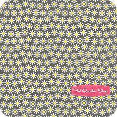 Citron Gray Citron Daisy Flowers Yardage SKU# CX2507-CTRN-D - Fat Quarter Shop - $10.50 per yard