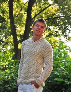 """Мужской свитер """"Golf Club"""" - вязание для мужчин,свитер мужской,вязание на спицах"""