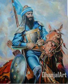 Baba Banda Singh Bahadur ji Sikhism Religion, Ancient Indian History, Guru Gobind Singh, Punjabi Culture, Indian Artist, Indian Paintings, Military History, Sikh Quotes, Spiritual Path
