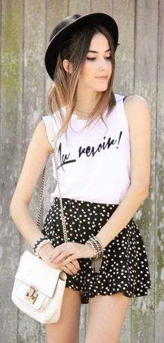 Polka Dot Skirt Streetstyle by Fashion Coolture