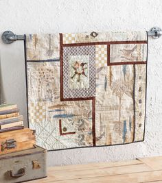 Tim Holtz Fabric Wall Hanging | DIY Sewing