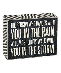 Look what I found on #zulily! 'Walk In The Storm' Box Sign by Primitives by Kathy #zulilyfinds