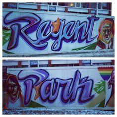 Mural in Regent Park @ Centre for Social Innovation Toronto, Centre, Innovation, Park, City, Parks, Cities