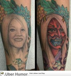 funny tattoos fails \ funny tattoos & funny tattoos fails & funny tattoos humor & funny tattoos for men & funny tattoos clever & funny tattoos small & funny tattoos humor hilarious & funny tattoos fails hilarious Funny Dog Captions, Funny Pictures With Captions, Picture Captions, Best Funny Pictures, Fail Pictures, Tattoos Anime, Bad Tattoos, Cover Up Tattoos, Worst Tattoos