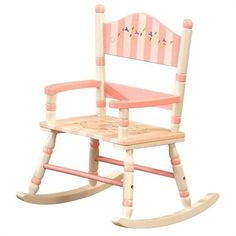 Rosenberry Rooms has everything imaginable for your child's room! Share the news and get $20 Off  your purchase! (*Minimum purchase required.) Pink Stripe Rocking Chair #rosenberryrooms
