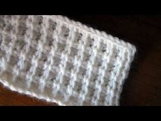Uncinetto tunisino Punto quadretti tutorial Tunisian crochet Square stitch - YouTube