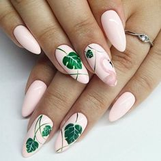 Flamingo Tropical Nail Art Nails - acrylic nails - coffin nails - natural na Bright Nail Art, Bright Summer Nails, Summer Acrylic Nails, Nails Summer Colors, Summer Nail Art, Summery Nails, Summer Diy, Summer Fruit, Summer Ideas