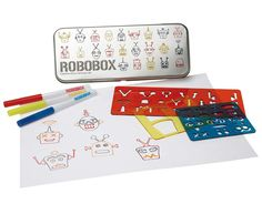Keep Kids Drawing with Interchangeable Stencils $10