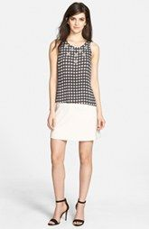 Chelsea28 Embellished Top & A-Line Skirt