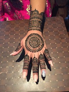 Intricate Mehndi Design Arm