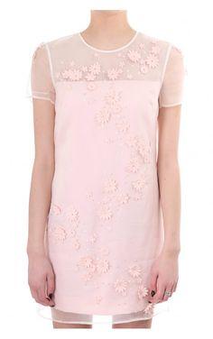 144ec6803e562 Ted Baker Womens Findon Embellished Floral Dress Nude Pink
