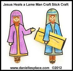 Jesus Heals the Lame Man Craft Stick Bible Craft for Sunday School www.daniellesplace.com