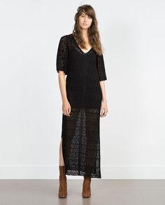Image 1 of OPEN KNIT DRESS from Zara