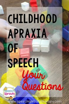 Childhood Apraxia of Speech: Your Questions-Diagnosis and goal-setting are tricky-even for the experts. What questions would YOU ask if you could talk to an expert? Speech Therapy Activities, Language Activities, Communication Activities, Speech Language Pathology, Speech And Language, Childhood Apraxia Of Speech, Speech Delay, Play Therapy Techniques, Dvd