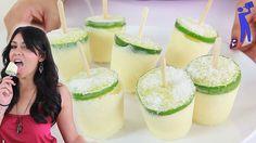 How to make Creamy Margarita Popsicles - Tipsy Bartender - Site Title Margarita Salt, Watermelon Margarita, Frozen Desserts, Frozen Treats, Summer Drinks, Fun Drinks, Homemade Ginger Beer, Coctails Recipes, Drink Recipes