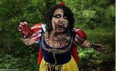 Zombi Snow White by ~NecroSFX on deviantART   My daughter did this makeup woo NECRO FX