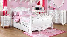 Disney Princess White 5 Pc Twin Sleigh Bedroom
