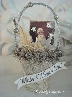 WINTER WONDERLAND Christmas ornament altered by ajoy2bheld