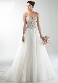 Maggie Sottero bosque waist completely beaded bodice ball gown