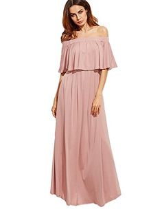 d1b2ccc35fcd2 Shop Pink Off The Shoulder Layered Ruffle Dress online. SheIn offers Pink  Off The Shoulder Layered Ruffle Dress & more to fit your fashionable needs.