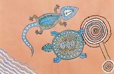 (Awesome Animal Adventures Week meets last years Around the World Week) Spot of Color: 6th Grade Australian Aborigine Dot Paintings