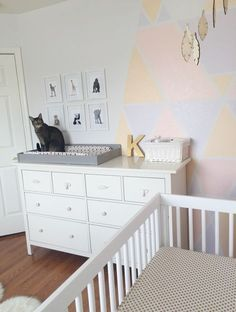 Boho/Aztec Nursery - The Vintage Blonde baby animal art by Paper Llamas