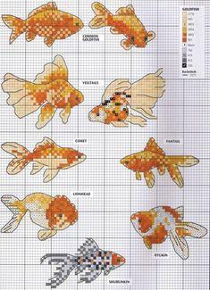 cross stitch koi fish | Gallery.ru / Фото #18 - разное, схемы вышивок ...