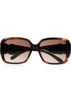 Chloé square-frame acetate sunglasses #Chloe #LuxeTraveler