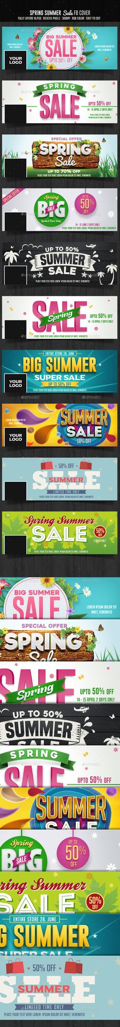 10 Spring Summer Sale Facebook Cover