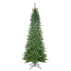 Sterling Inc. 9' Green Narrow Nordic Fir Christmas Tree with 700 Clear Lights and Stand   48 wide.  #