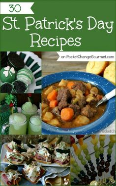 St. Patrick's Day Recipes | on PocketChangeGourmet.com