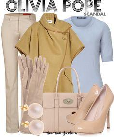 Inspirado por Kerry Washington como Olivia Pope en Scandal. Los guantes largos no pueden faltar.