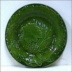 English Majolica Leaf Plate Circa date 1880's.