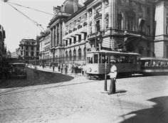 "Bucharest photos from the first decades of the century - mostly from the interwar period (between the two World Wars). ♦ The end of ""Little Paris"" (click photo) ♦ World War Two, Old World, Old Pictures, Old Photos, Little Paris, Bucharest Romania, Click Photo, My Town, Old City"