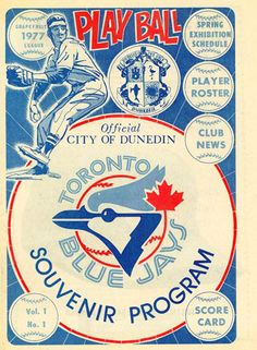 This is a vintage Toronto Blue Jays poster circa