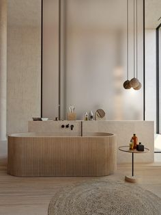 Neutral design meets minimalist aesthetics on Behance Minimalist Bathroom Mirrors, Minimalist Bathroom Design, Minimalist Home Interior, Minimalist Decor, Minimalist Design, Apartment Interior Design, Bathroom Interior Design, Neutral Bathrooms Designs, Bathroom Styling