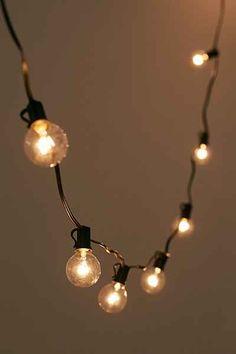 Black Corded Globe String Lights