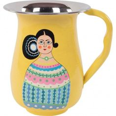 Yellow Frida Kahlo Stainless Steel Jug