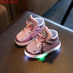 Nouveau Printemps Automne Hiver Enfants de Sneakers Enfants Chaussures  Chaussure Enfant Bonjour Kitty Filles Chaussures Avec 69861e8dad1e