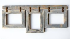 Barnwood Collage Frame Multi Opening Frame-Rustic Picture Frames-Reclaimed-Cottage Chic-Collage Frame by rustymill Grey Picture Frames, Picture Frame Crafts, Picture Frame Sets, Wooden Picture Frames, Picture On Wood, Mom Picture, 5x7 Collage Picture Frames, Homemade Picture Frames, Multi Picture