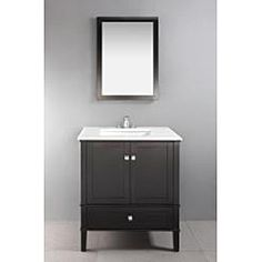 @Overstock.com - Windham 22x30-inch Black Bath Vanity Decor Mirror - The Windham Vanity Mirror is designed to match our Windham Collection Vanities. The mirror matches the casual contemporary style of the collection and has a gorgeous black lacquer finish.  http://www.overstock.com/Bedding-Bath/Windham-22x30-inch-Black-Bath-Vanity-Decor-Mirror/6771693/product.html?CID=214117 $55.46