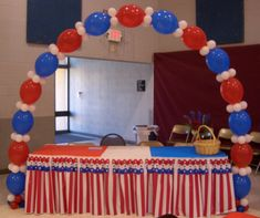 4th of July Independance Day Balloon Bouquets and Balloon Decor ~ Tulsa, Ok
