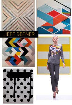 Collaboration between artist Jeff Depner and Pringle of Scotland for Spring/Summer 2012.