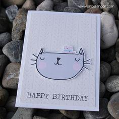 #happybirthday #snoeflingor #biancamoschner #geburtstag #allesgute #geburtstagskarte #selbstgemacht Happy Birthday, Cats, Paper, Paper Mill, Invitation Cards, Invitations, Packaging, Homemade, Birthday