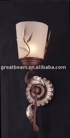 Traditional Wall Sconce D4248  1.Special design with painted iron and frosted glass  2.Leight:145mm;Width:190mm;Height:475mm