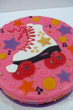 Roller Skate Birthday Cake cakepins.com