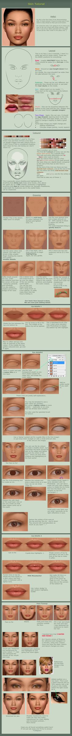 Massive Face Tutorial by ~gothic-icecream on deviantART, Resources for Art Students / Art School Portfolio Work at CAPI ::: Create Art Portfolio Ideas at milliande.com , How to Draw Faces