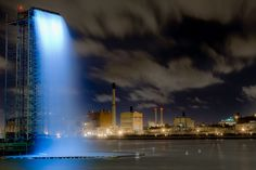 Olafur Eliasson's Waterfalls in New York. An unexpected and totally delightful element in an urban setting.