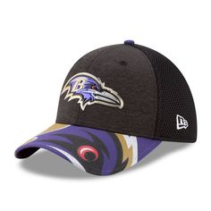 d39e6168ce9e08 Baltimore Ravens New Era Youth 2017 NFL Draft On Stage 39THIRTY Flex Hat -  Black